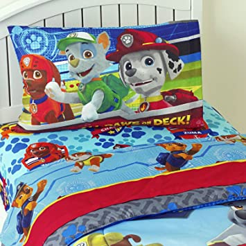 Children Bedding Set 3 Piece Kids Sheet Set PAW Patrol Twin Sheet Set