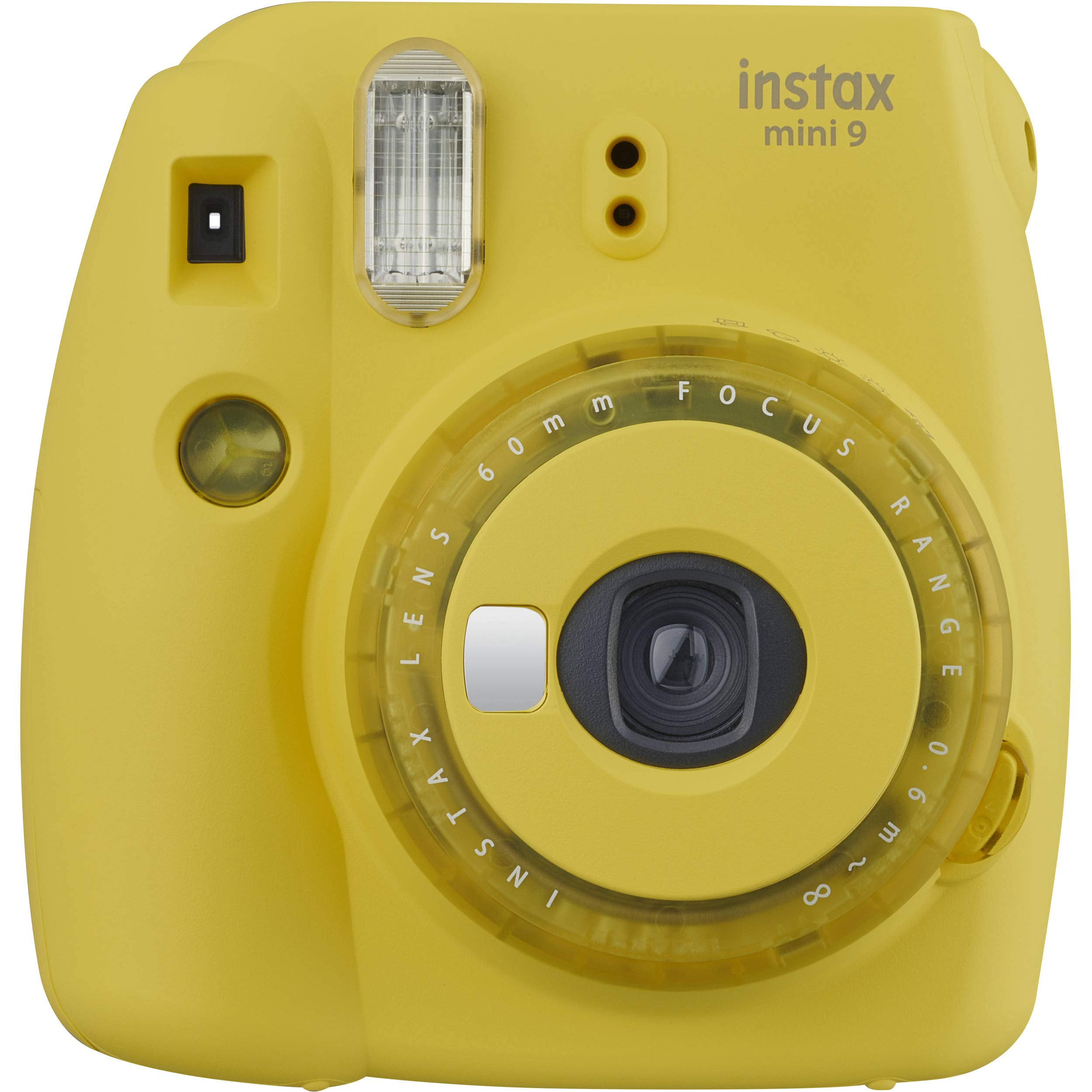 Fujifilm Instax Mini 9 (Yellow with Clear Accents), 3X Instax Film (60 Sheets), Groovy Case, Accordion Album and Hanging Pegs by Fujifilm (Image #2)