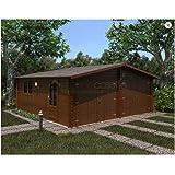 Mondocasette Casa Casa de Madera de jardín – Modelo Garaje Grosor Paredes 45 mm 600 x