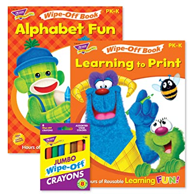 TREND enterprises, Inc. ABCs & Printing Reusable Books & Crayons: Toys & Games