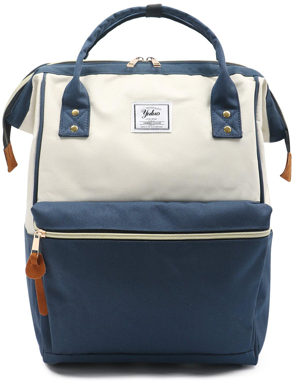 Oflamn Rucksack Damen Herren, Vintage Daypack Laptopfach für Uni, Arbeit, Reise (grau)
