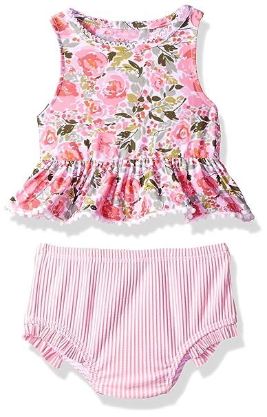 Amazon.com: mud pie bebé niñas Floral Tankini de dos piezas ...