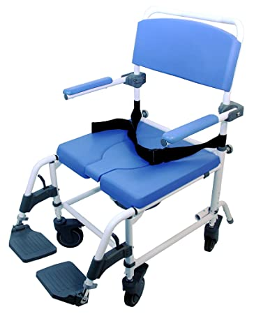 Aluminum Shower Commode Chair Wide Seat EZee Life 20 quot. Amazon com  Aluminum Shower Commode Chair Wide Seat EZee Life 20