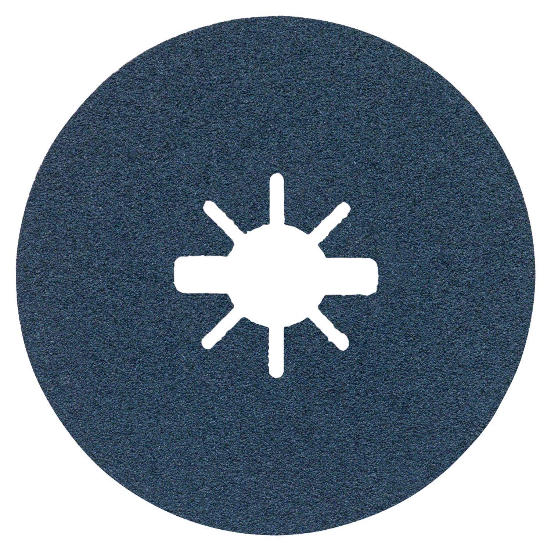 Discos de lija de fibra Bosch Professional Best para metales, X-Metall//Inox, R780, /Ø125 mm, grano 80, di/ámetro del orificio: 22,23 mm