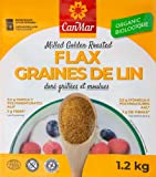 CanMar ORGANIC Milled Golden Roasted Flaxseed 1.2 kg/toasted taste & aroma/premium ground flax seed/flax meal/gluten…
