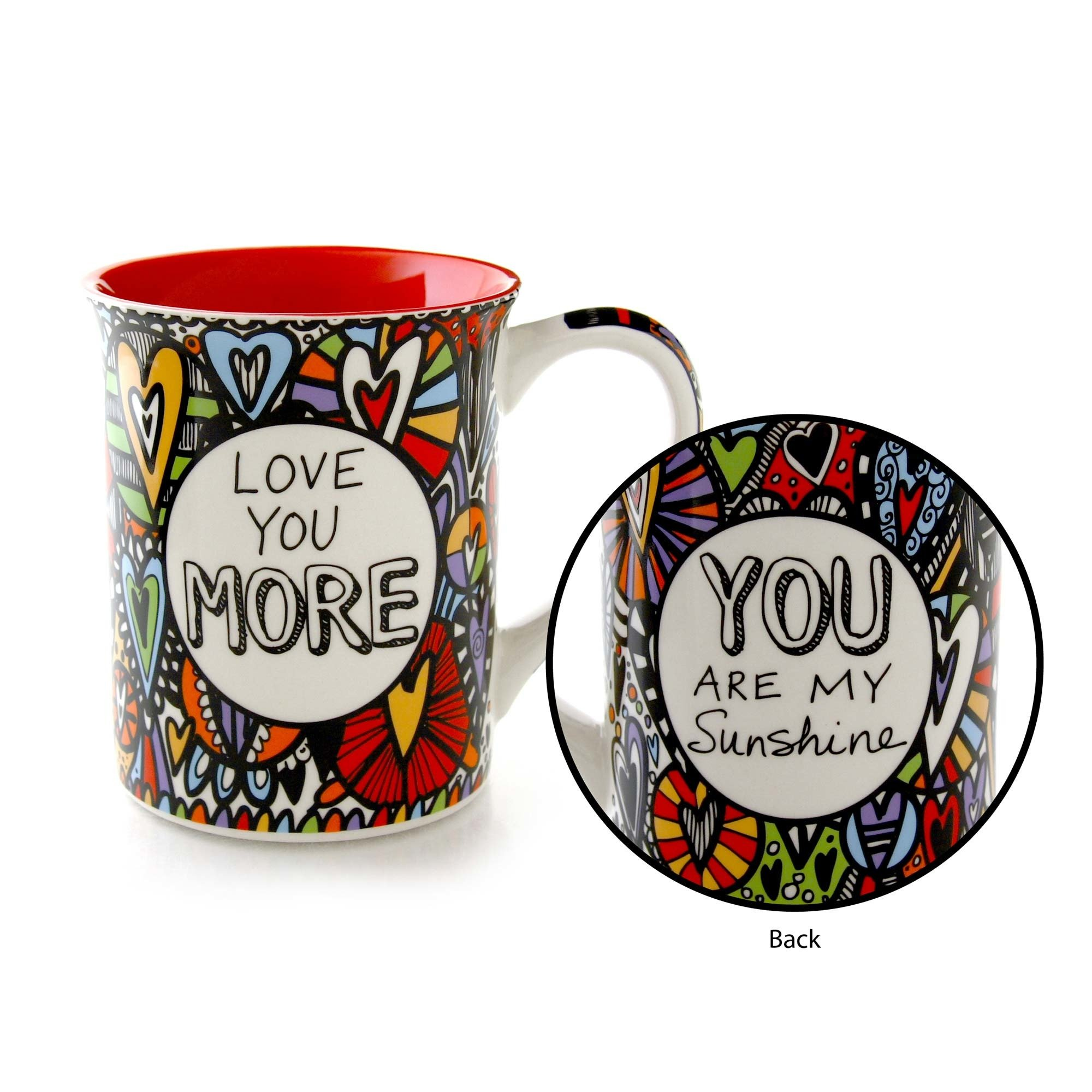 "Our Name is Mud ""Love You More"" Cuppa Doodle Stoneware Mug, 16 oz."