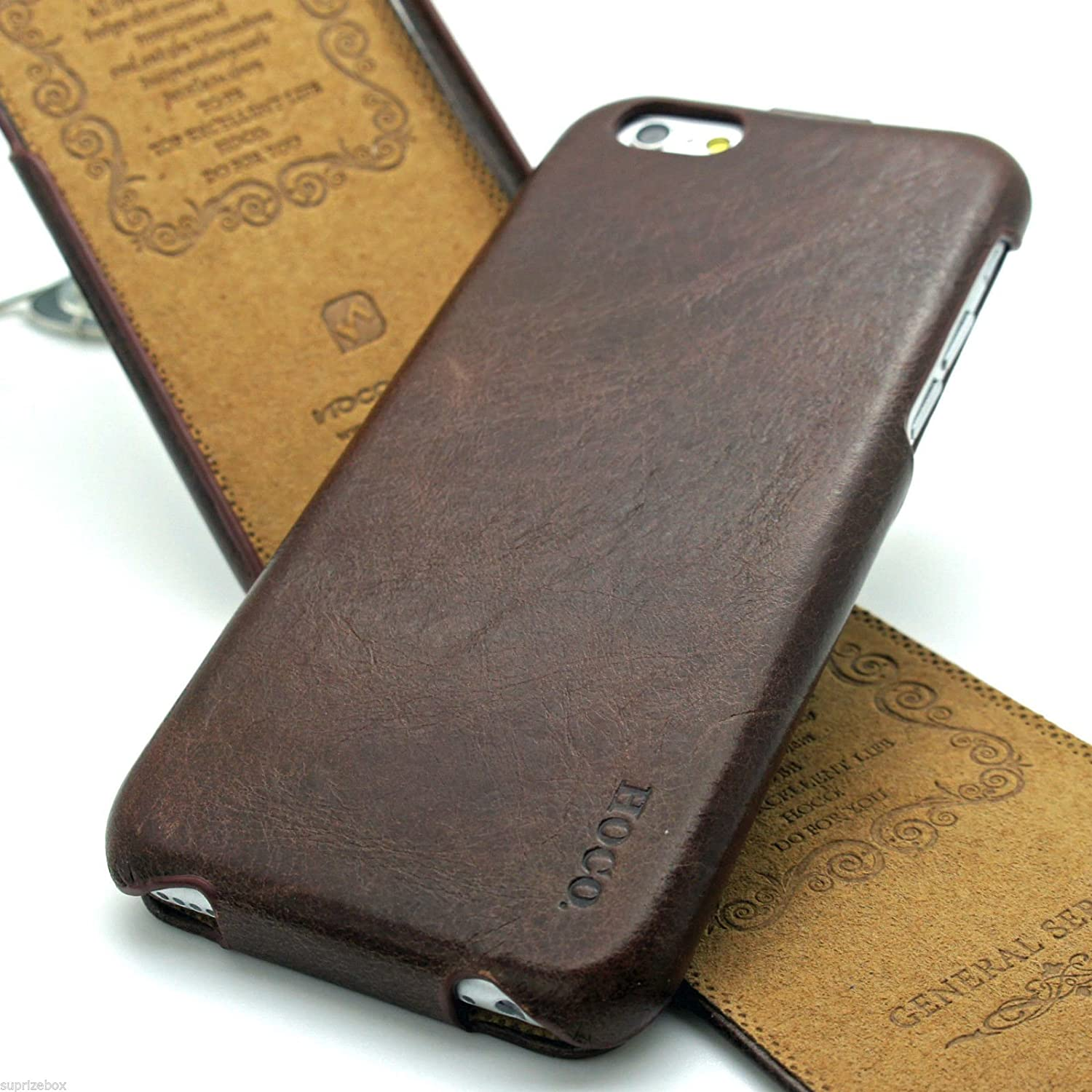 311fd2dacf20 Apple iPhone 6 6S Case Cover HOCO GENERAL SERIES Genuine Distressed Leather  Mobile Flip Case By SUPRIZEBOX(TM) (BROWN)  Amazon.co.uk  Electronics