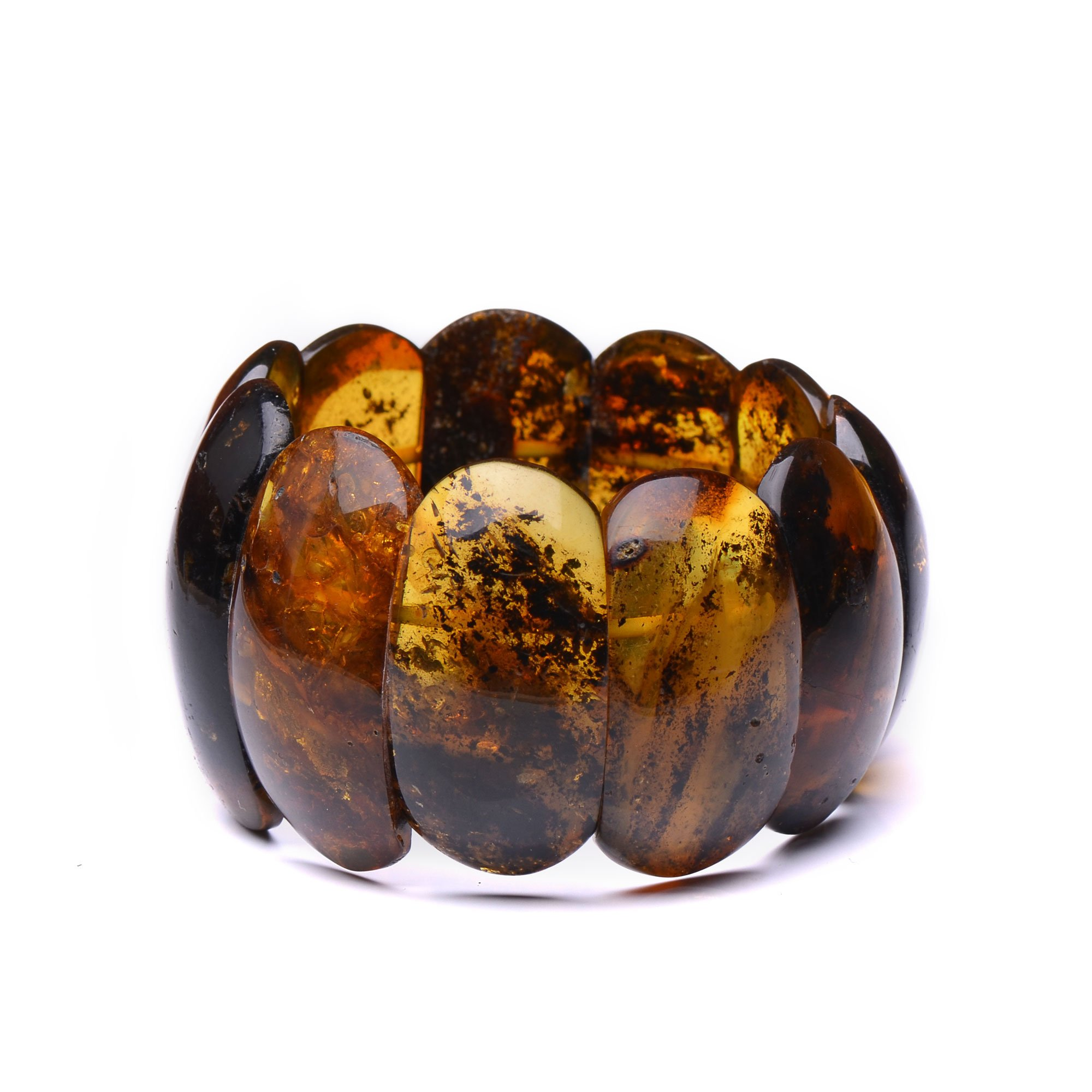 Massive and Unique Amber Bracelet for Woman - Genuine Baltic Amber - Certified 100% Genuine Amber Pieces