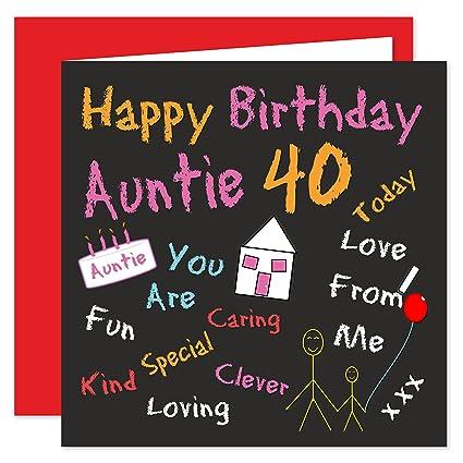 Tarjeta de feliz cumpleaños n.°40 para tía - Diseños de ...