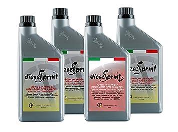 DieselSprint 4 litros (1 litro) Plus + 3 L Maxi Kit aditivo Mantenimento Rendimiento Sistemas de Transmisión Diesel.: Amazon.es: Coche y moto