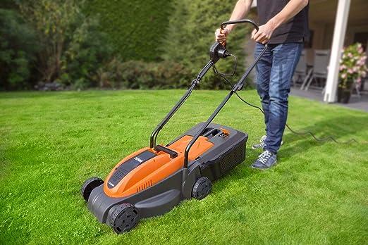 Ferm LMM1012 - Cortacésped eléctrico, 1300 W, 240 V, naranja y ...