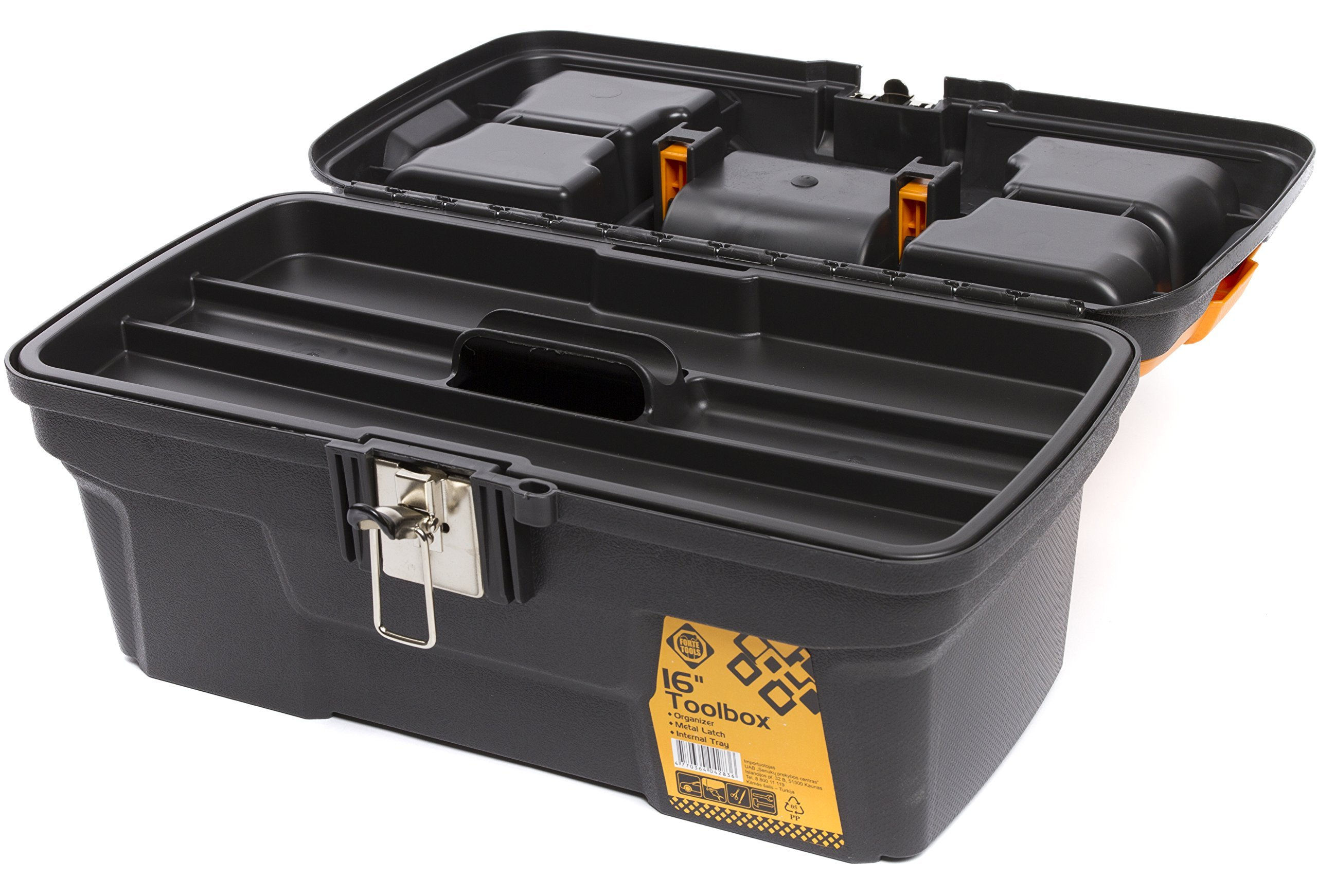 Portable Tool Box Double Drawer Organizer Bits Compartment Heavy Duty Work Case