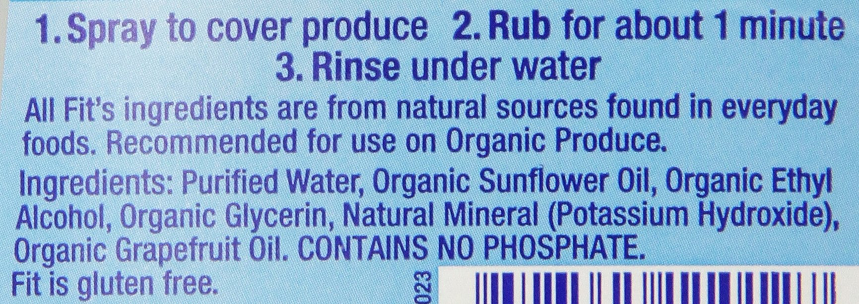 Fit Organic Produce Wash, 12 Oz Spray, Fruit and Vegetable Wash & Pesticide/Wax Remover (Pack of 6) by Fit Organic (Image #2)
