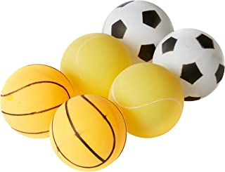 Get & Go Print Tischtennisbälle Mit Aufdruck Im Behälter 6 Stück, Weiß/Orange/Gelb, One Size