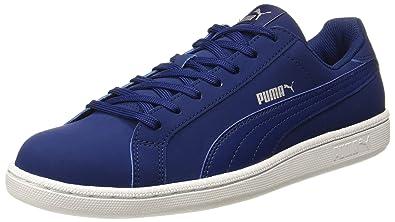 Puma Men s Smash Buck Blue Leather Sneakers - 6 UK India (39 EU ... f866f1f2c