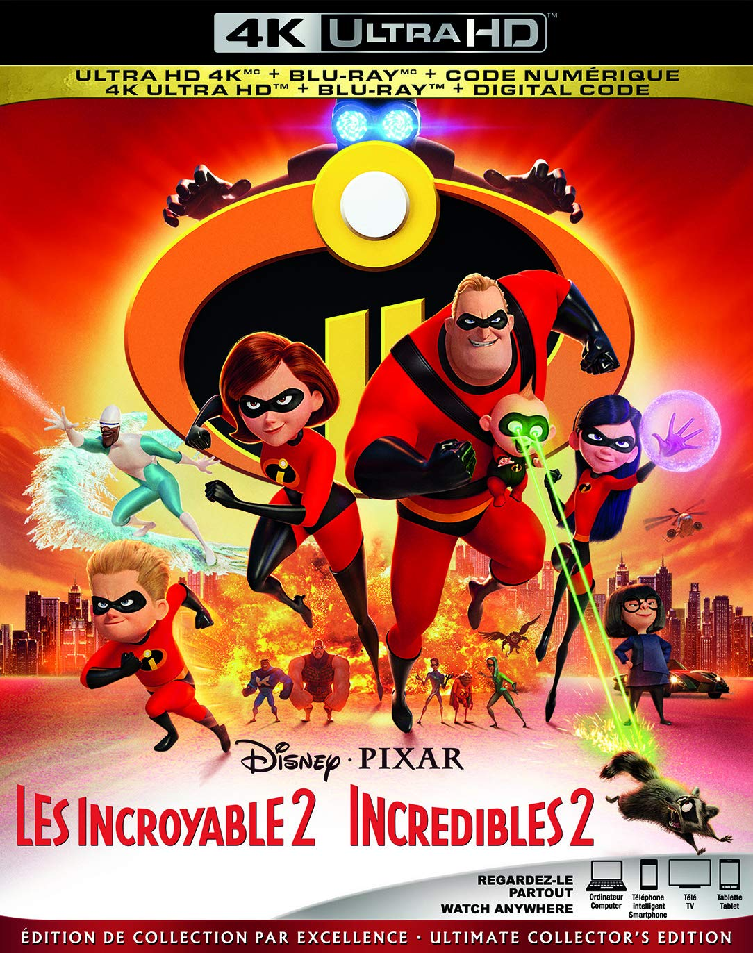 INCREDIBLES 2 [Blu-ray] Craig T. Nelson Holly Hunter Sarah Vowell Huckleberry Milner
