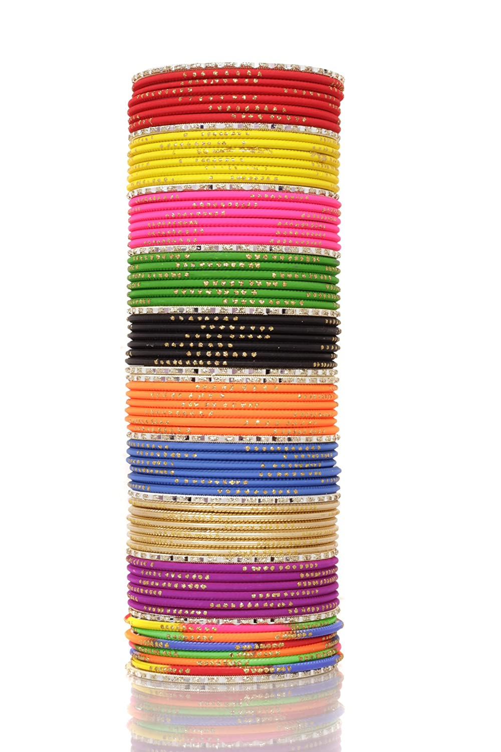 09638ee308f6d Amazon.com: Ratna Indian Bollywood Multi Color Plain Bangle Box for ...