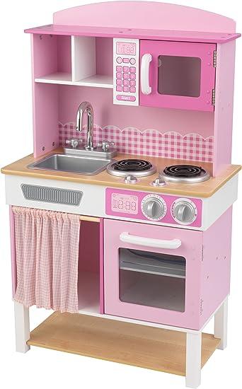 Kidkraft 53198 Cucina Giocattolo In Legno Per Bambini Home Cookin Rosa Amazon It Giochi E Giocattoli