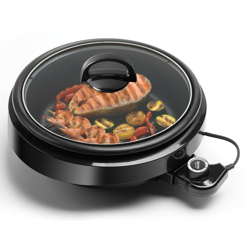 Aroma Housewares ASP-218B 3-in-1 Grillet Indoor Grill 4-Quart Black