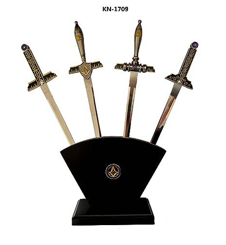 Masonic Letter Opener 4 Pc  Set