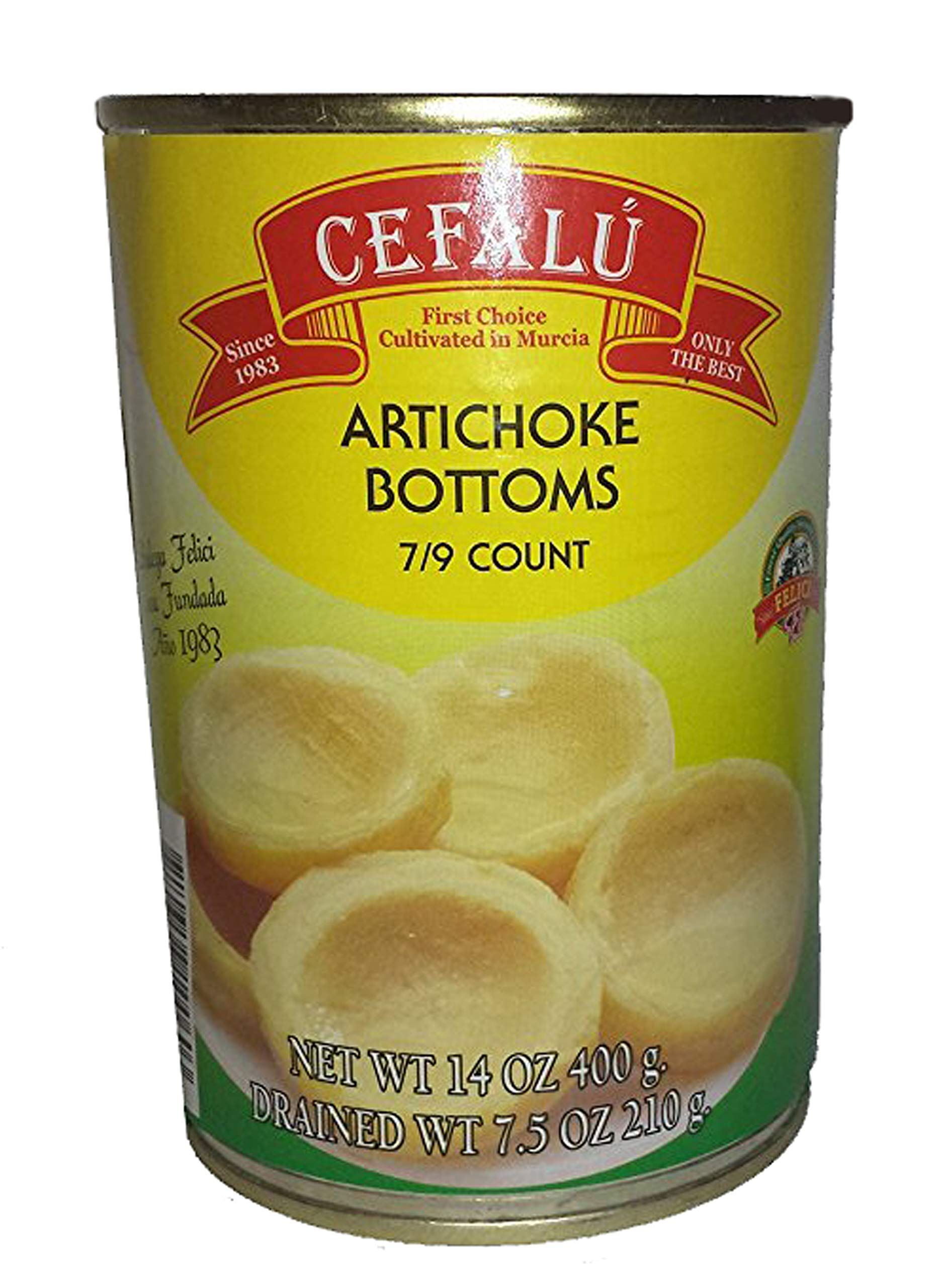 Cefalu Artichoke Bottoms Pack of 6 (14 Ounce Cans) Product of Spain, Non GMO, No MSG, No trans Fat, Gluten free