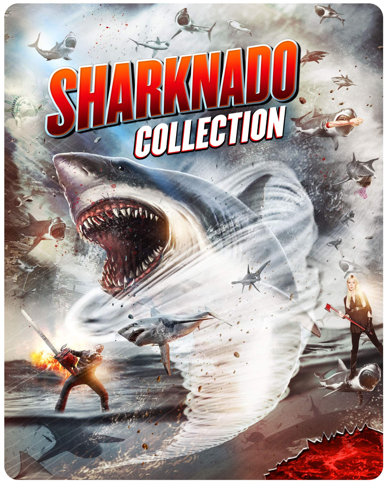 Blu-ray : Sharknado 1-6 Complete Collection (Steelbook, Collector's Edition, Widescreen, 2 Pack)