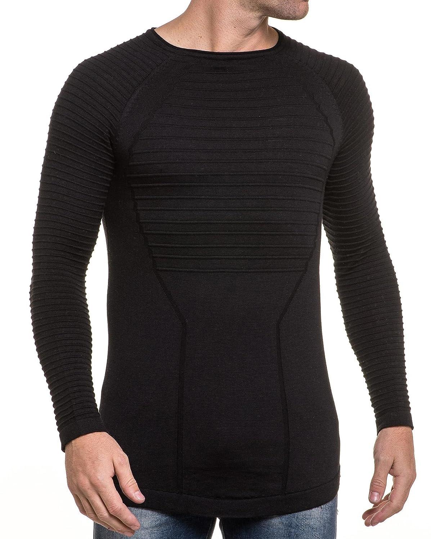BLZ jeans - fashion long sweater fine knit ribbed black