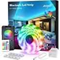 Maylit 16.4ft Bluetooth APP Controller RGB LED Light Strip with Remote