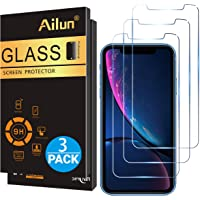 Ailun Glass Screen Protector for iPhone XR 6.1 inches 2018 Release 3 Pack Tempered Glass Screen Protector Compatible Apple iPhone XR 6.1 inches Display Anti-Scratch Advanced HD Clarity Work Most Case