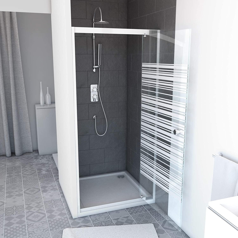 Aurlane FAC465 - Mampara de ducha, color blanco: Amazon.es: Bricolaje y herramientas