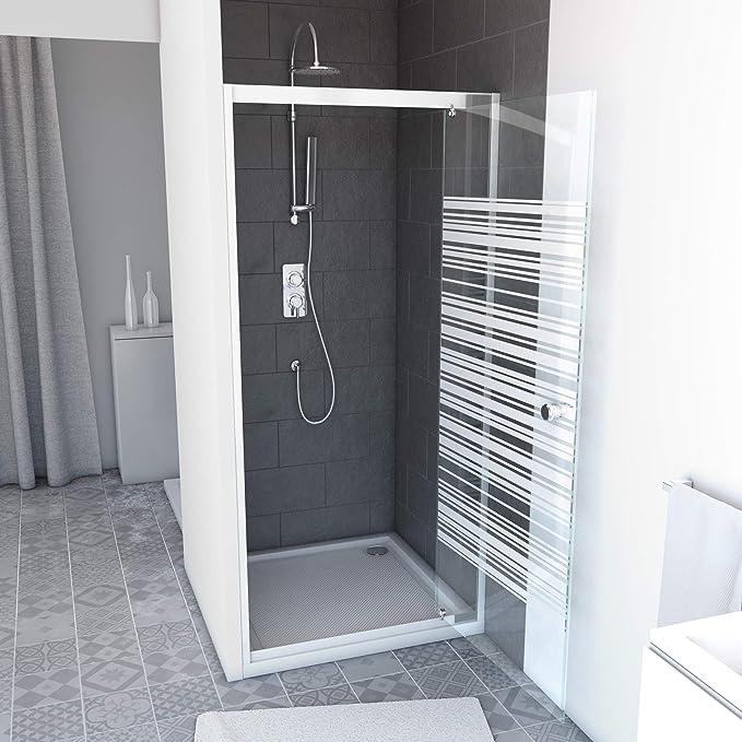 Aurlane FAC466 - Mampara de ducha, color blanco: Amazon.es ...