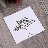 50PCS Hollow Floral Cut Name Place Card Table