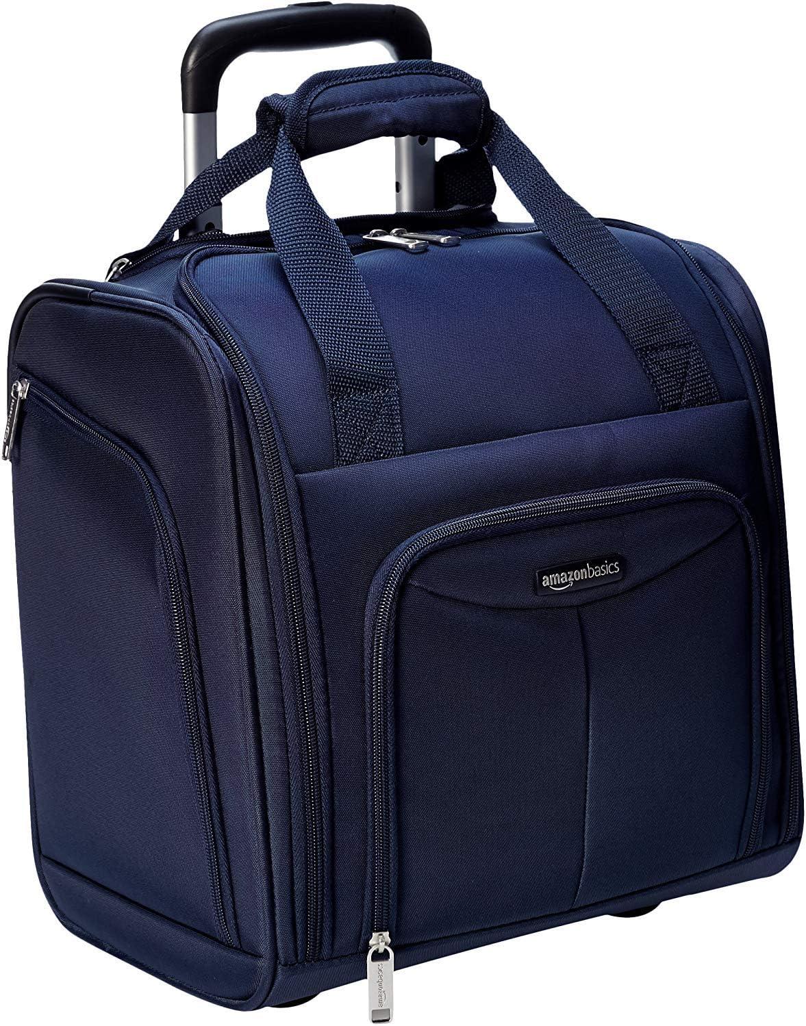AmazonBasics - Equipaje para llevar bajo el asiento, Azul marino