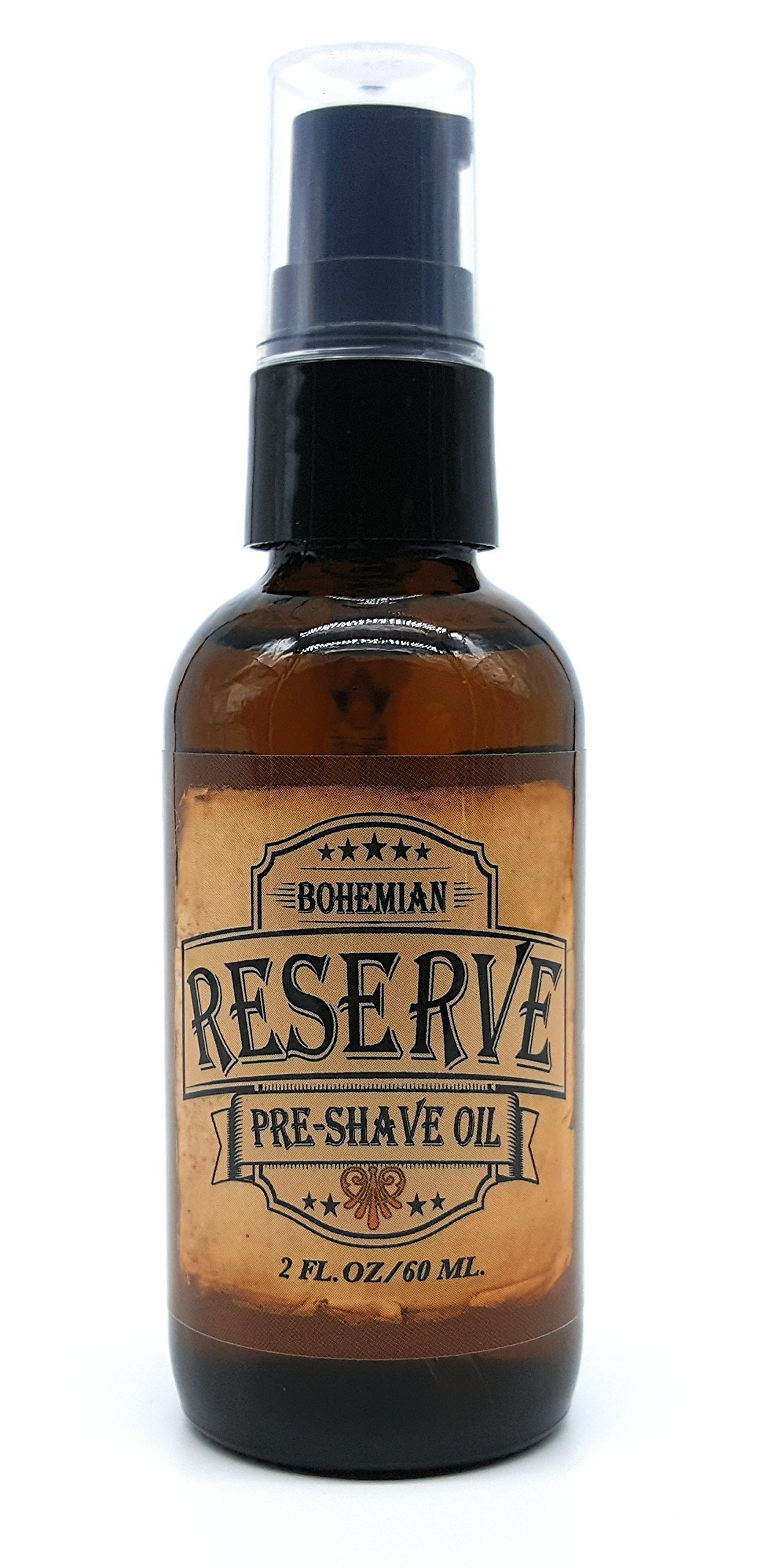 Bohemian Brothers Grooming - Barbershop Bay Rum and Sandalwood Pre-Shave Oil (2 OZ). Ultra Smooth Shaving Experience. Prevent Nicks and Irritation. With Natural Vitamin E and Avocado Oil.