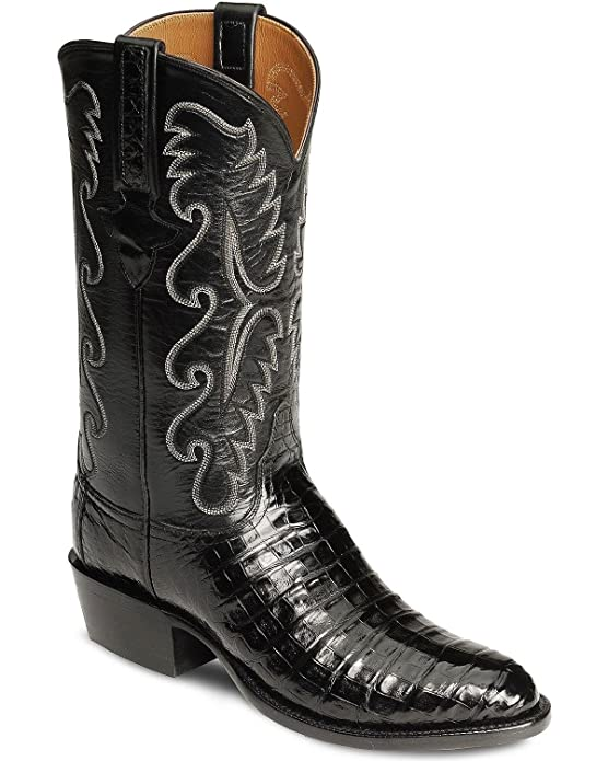 Lucchese Men's Handmade Classics Caiman Ultra Belly Cowboy Boot Medium Toe Black 10 D(M) US