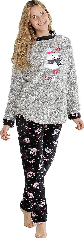 Massana Pijama de Mujer Tipo Polar P681249 - Gris Vigore, M ...