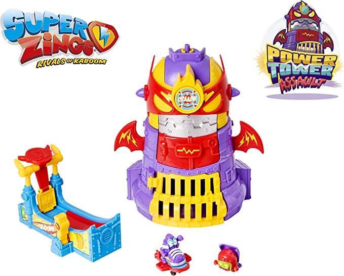 Superzings - Power Tower Assault Adventure 3, con 2 exclusivas figuras SuperZings , color/modelo surtido: Amazon.es: Juguetes y juegos