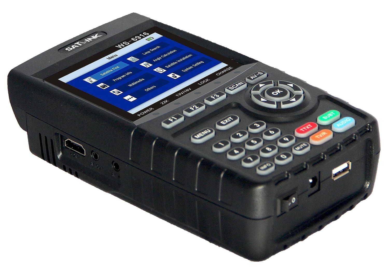 Satfinder Puntero Satellite DVB-S/S2 Satélite Señal Detector Medidor, TFT 3.5 LCD Monitor Localizador Satélite Digital MPEG-2/MPEG-4 (WS-6916): Amazon.es: ...