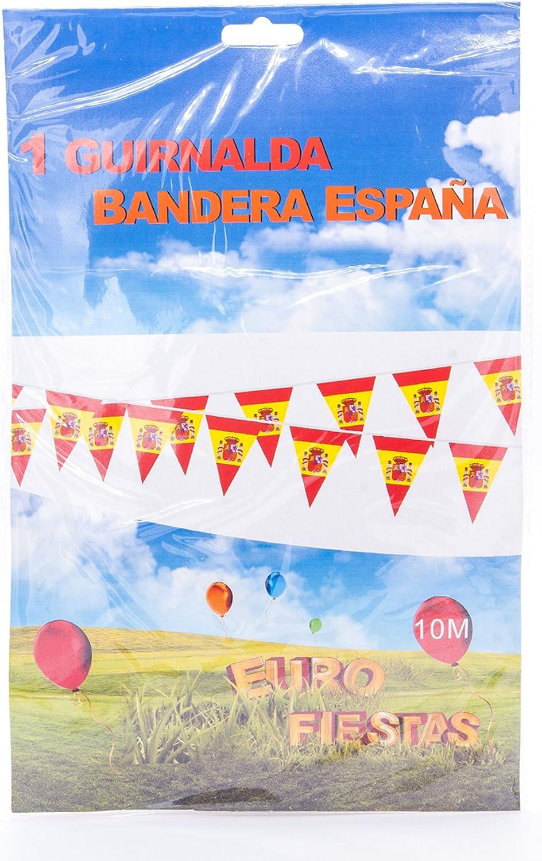 EuroFiestas Guirnalda banderines España: Amazon.es: Hogar