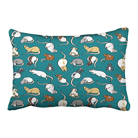 Amazon.com: Accrocn Halloween Rat Pillow Covers Cushion ...