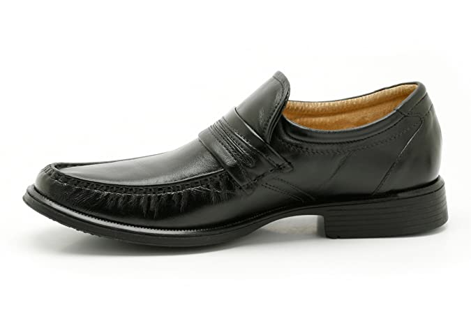 Para hombre Clarks Formal Slip On Zapatos mango trabajo, color negro, talla 39.5: Amazon.es: Zapatos y complementos