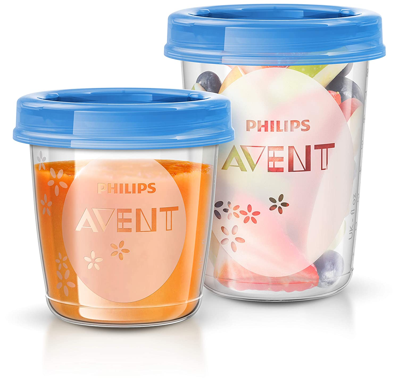 20 recipientes + 1 cuchara + libro recetas Juego de recipientes para comida de beb/é Philips Avent