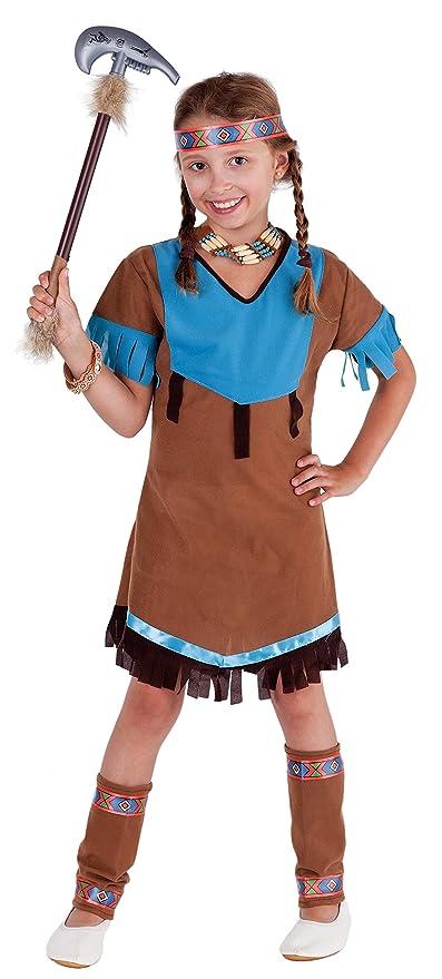 Indianer Kostum Kinder Braun Squaw Indianerin Madchen Cosplay