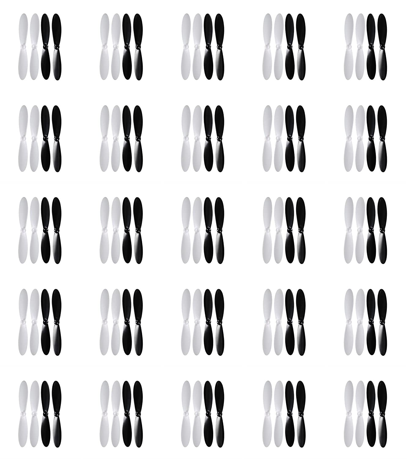 25 x Quantity of Carson X4 Cam Quadcopter Propeller Blades Props Rotor Set Main Blades Black and White   B013PRM3RW
