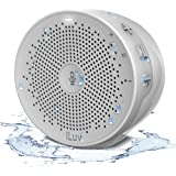iLuv Aud Click Shower, IPX4 Water Resistant Portable Wi-Fi & Bluetooth Speaker with Amazon Alexa - Compatible with Apple and Android Smartphones and other Bluetooth Devices (White)