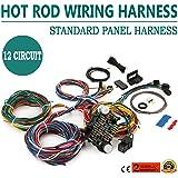 mophorn wiring harness kit 12 circuit hot rod universal wiring harness  muscle car street rod xl