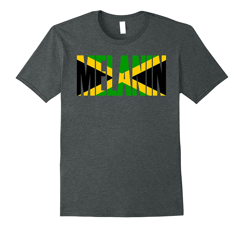 Oheneba Apparel: Melanin Jamaica Flag Pride Gift T-Shirt-FL