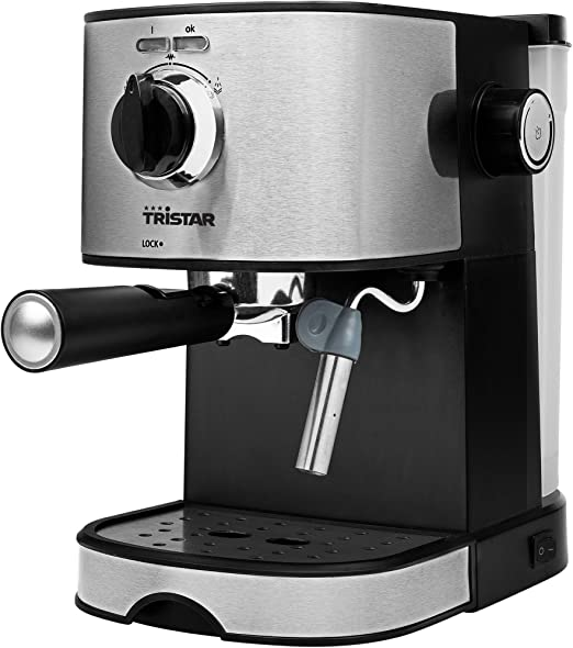 Tristar CM-2275 Cafetera Espresso, 850 W, 1.2 litros, Acero ...