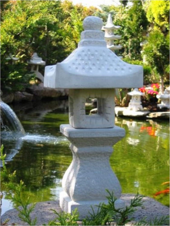Deine Gartenoase Yukimi - Farol de jardín (piedra), diseño de pagoda estilo japonés: Amazon.es: Jardín