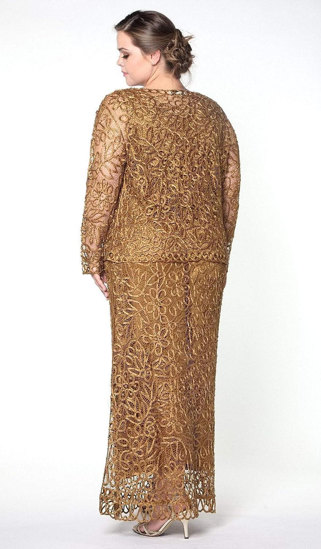 2e78bea27c6 SOULMATES - C12016 Beaded Hand Crochet Bolero Jacket Dress Set at Amazon  Women s Clothing store